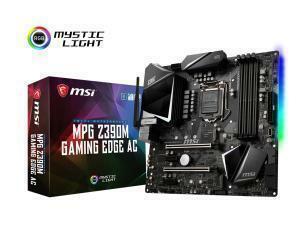 MSI MPG Z390M GAMING EDGE AC Z390 LGA 1151 Micro-ATX Motherboard