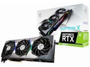MSI NVIDIA GeForce RTX 3080 Ti SUPRIM X 12GB GDDR6X Graphics Card
