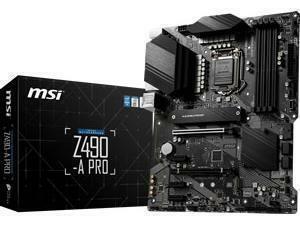 MSI Z490-A PRO LGA1200 Z490 Chipset ATX Motherboard