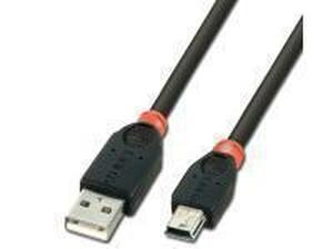 7.5m USB 2.0 Cable, Type A to mini B, Black