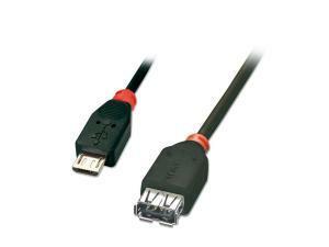 1M USB OTG Cable - Black