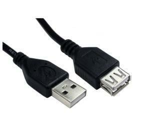 Cables Direct 0.5m USB2.0 Type A M to Type A F Extension Cable