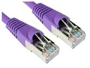 Cat6A Patch Cable 15m Violet