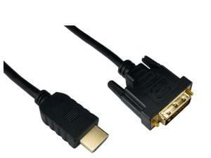 Cables Direct 15m HDMI To DVI D Cable