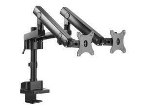 V7 DMPRO2DTA-3E Desk Mount for Monitor - Matte Black - 2 Display(s)