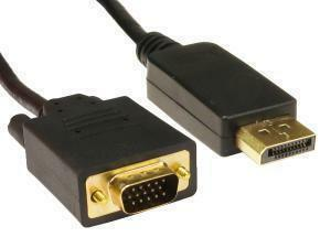 DisplayPort To VGA Cable 1M