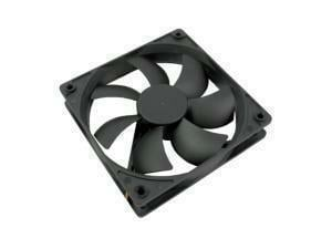 Novatech Black Case Fan - 120mm 3 pin