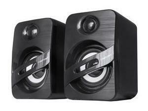 6W USB Powered Stereo Speakers, Black