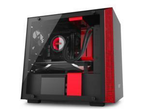 NZXT H200I Matte Black and Red Mini-ITX Tower PC Case