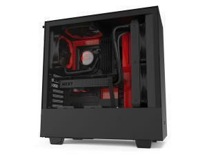 NZXT H510 Compact ATX Mid Tower - Tempered Glass Black/Red