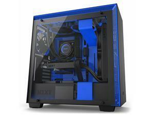 NZXT H700I Matte Black and Blue Mid Tower PC Case