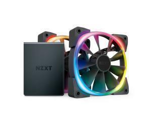 NZXT Aer RGB2 120mm Fan - 2x 120mm PWM Fan with Hue 2 Controller
