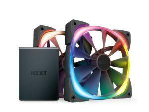 NZXT Aer RGB2 140mm Fan - 2x 140mm PWM Fan with Hue 2 Controller