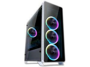 Sahara P35 White ATX tempered glass ARGB Gaming case