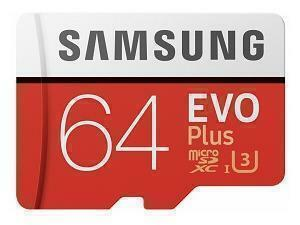 Samsung EVO Plus 64GB MicroSDHC Class 10 Memory Card