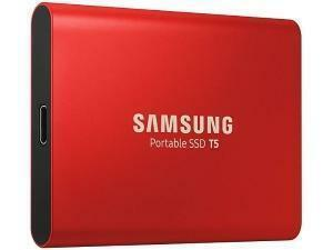 Samsung T5 500GB Solid State Drive SSD - Red