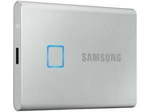 Samsung T7 Touch Silver 1TB Portable SSD with Fingerprint ID