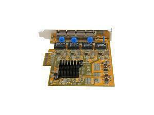 *B-stock item-90 days warranty*StarTech.com 4-Port PCI Express Gigabit Network Adapter Card