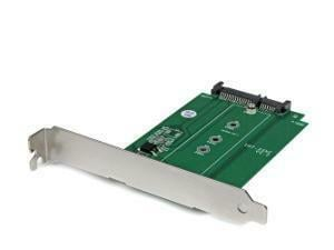 M.2 to SATA SSD adapter – expansion slot mounted