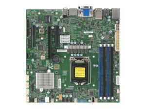 *B-stock item - 90 days warranty* X11SCZ-F Gigabit LAN, IPMI & Remote KVM Management, HDMI, 2xDP, DVI-D, Audio.