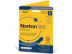Norton 360 Deluxe - 5 Devices, 1 Year