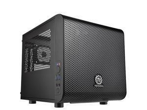 Thermaltake Core V1 Mini ITX case, Black, Windowed