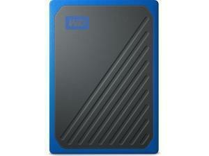 WD My Passport Go External 500GB Solid State Drive (SSD) - Blue