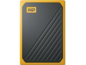 WD My Passport Go External 500GB Solid State Drive (SSD) - Yellow