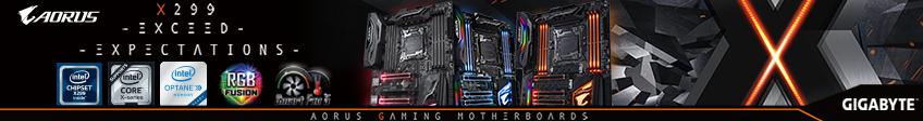 Gigabyte Aorus X299 Gaming Motherboards