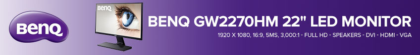 "BenQ GW2270HM 22"" LED Monitor"
