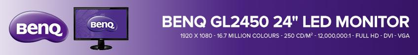 """BenQ GL2450 24"""" LED Monitor - 16:9 - 5 ms"""