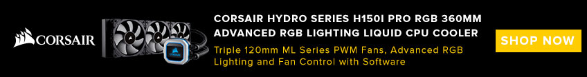 Corsair Hydro Series, H150i PRO RGB Liquid CPU Cooler