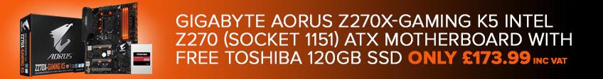 Gigabyte Aorus Free SSD Bundle