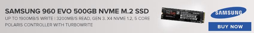 Samsung 960 EVO 500GB NVME M.2 SSD