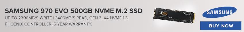 Samsung 970 EVO 500GB NVME M.2 SSD