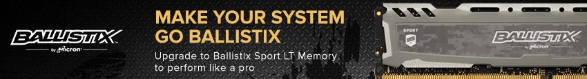 Ballistix Sport LT 16GB (2x8 GB) DDR4 2666MHz Dual Channel Memory (RAM) Kit