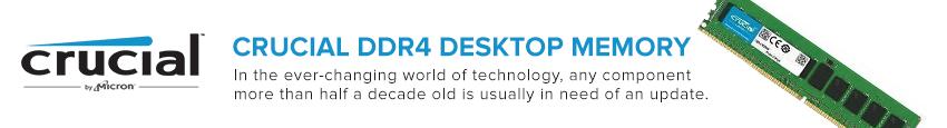 Crucial 16GB DDR4 2400MHz Memory (RAM) Module