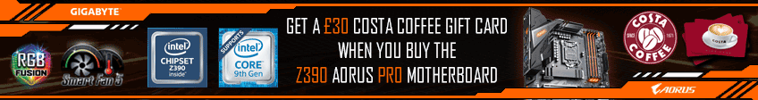 Gigabyte Costa Coffee Z390 Motherboard Promotion