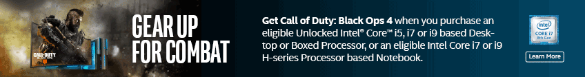 Intel Call of Duty Black Ops 4 Promotion
