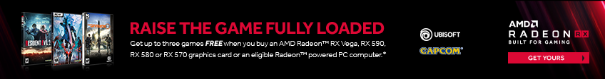 Radeon RX Vega and 500 Series Game Promotion