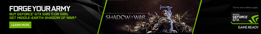 NVIDIA Shadow Of War Game Promotion