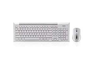 *Ex-display item-90 days warranty*Rapoo X8100 2.4GHz Wireless Desktop Combo Set White UK Layout