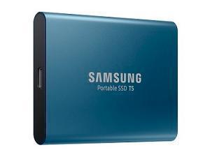Samsung T5 500GB External Solid State Drive SSD - Blue