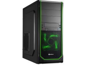 Sharkoon VS3-V Mid Tower case, Green Andamp; Black
