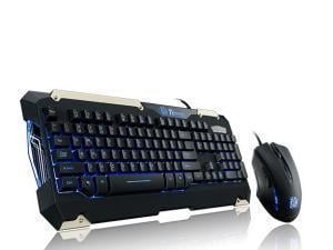 Thermaltake Blue LED Commander Mechanical Feel Gaming Backlit Keyboard And Mouse