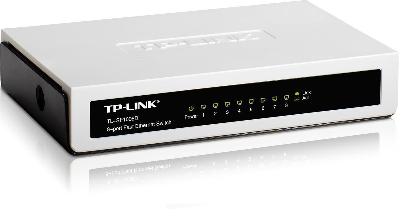 Tp link tl sf1008d 8 port fast ethernet switch novatech - 8 port fast ethernet switch ...
