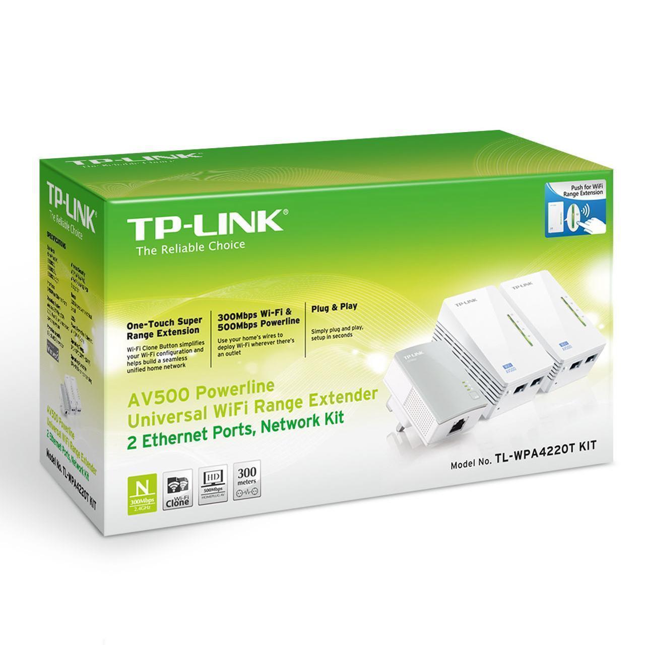 TP-LINK TL-WPA4220 300Mbps Powerline Wireless Extender