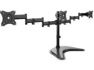 V7 Triple Monitor Stand for up to 13And#34; to 27And#34; Monitors - Desktop Stand