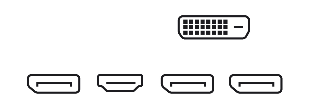 EVGA GeForce GTX 1060 SC GAMING 6GB GDDR5 Graphics Card ports