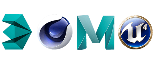 3DS Max, Cinema 4D, Maya or Unreal, 3D modelling and animation software